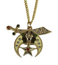 4031791 Shrine Necklace Pendant Shriner Scimitar Crescent Moon Star Prince Hall