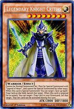 YuGiOh Legendary Knight Critias - DRL2-EN002 - Secret Rare - 1st Edition Near Mi