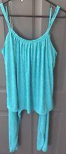 Natori Pajama Set- Medium- Blue Green- Tank Top and Pant