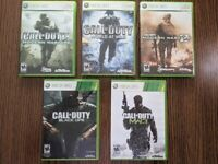 Call of Duty Xbox 360 Lot (Modern Warfare, MW2, MW3, Black Ops, World At War)