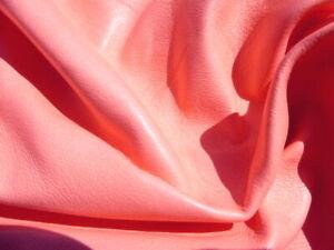 Lambskin sheepskin lamb sheep leather hide skin Salmon Pink glove soft 1 1/2oz
