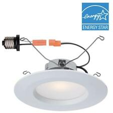 Commercial Electric 5 in. and 6 in. White Recessed LED Trim with 90 CRI, 2700K (