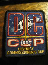 District Commissioner's Cup Soccer Football Club Sport Vintage 1997 Jacket Patch