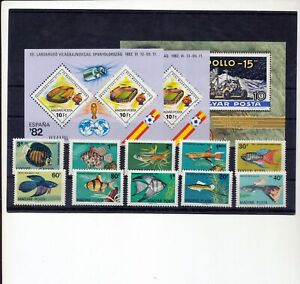 HUNGARY Sport Space Fish MNH+Sheets (13 Items) NS 966s