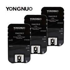 3 x Yongnuo YN-622N II Wireless Flash Trigger Kit for YN568N Nikon D800E D600