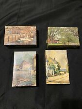 Lot Of 4 Vintage TUCO Miniature jigsaw puzzles Scenic Views