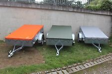 Flachplane nach Maß bis 2.00 Meter Länge LKW Plane 680 gr/m²  Orange