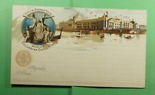 DR WHO 1893 WORLDS COLUMBIAN EXPO UNUSED PICTORIAL POSTAL CARD  f52363