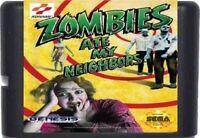 Zombies Ate My Neighbors (1993) 16 Bit Game Card For Sega Genesis System