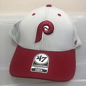 Philadelphia Phillies 47 Brand Hat. New NWT Gray One Size Cap. MLB Baseball