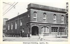 Vintage Postcard; Municipal Building, Apollo PA Armstrong County Unposted