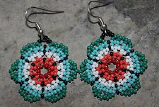 Huichol Peyote Beaded Earrings Y