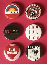 Set Of 6 IDLES 25mm Pin Badges Brutalism Joy As An Act Of Resistance
