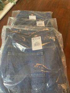 Dickies Medium Wash Carpenter Jeans! New w/tags size 38x30 LU200RNB.  3 PAIRS!