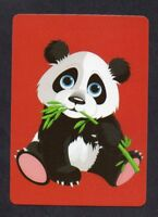 #850.191 Modern WIDE swap card -MINT- Panda on red background