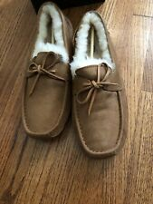 UGG Byron Wool Leather Sheepskin Slippers Suede Chestnut Men Size 16 New