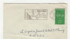 France Europa 1 timbre sur lettre 1959 tampon et flamme Verdun /L595