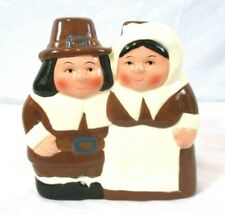 Publix Pilgrim Pair Thanksgiving Napkin Holder Collectible Holiday Bin W
