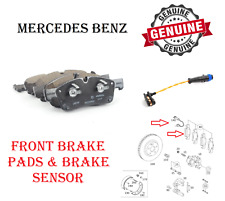 Front Brake Pad Set With Sensor For Mercedes GL GLE GLS ML W166 X16 Genuine