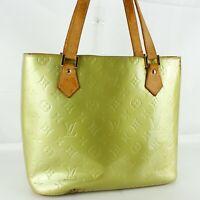 LOUIS VUITTON HOUSTON Shoulder Bag Purse Monogram Vernis M91053 Gris