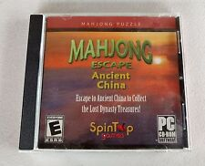 Mahjong Escape Ancient China PC CD-ROM Game Windows 98SE/ME/XP/2000