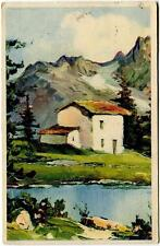 1940 Panorama montagna casetta dest. Nave Miraglia Mariposti - FP COL VG