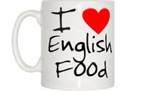 I Love Heart English Food Mug