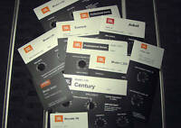 JBL L100, Century, L300, Summit, L65, Jubal, L112, ALUMINUM Foilcal Labels New!