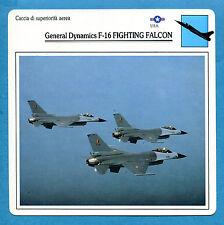 SCHEDA TECNICA AEREI - GENERAL DYNAMICS F-16 FIGHTING FALCON - (USA)