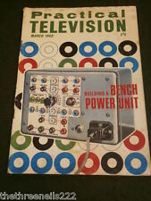 PRACTICAL TELEVISION - BENCH POWER UNIT - MARCH 1968