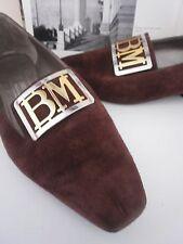 BRUNO MAGLI Damen Ballerinas Pumps made italy TRUE VINTAGE Slipper braun brown