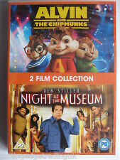 Alvin & the Chipmunks / Night at the Museum: (DVD, 2 Discs 2010) NEW SEALED PAL