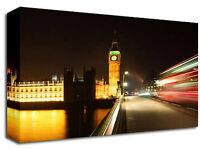 London Bus Big Ben Canvas Art Print A1 L Colour Picture