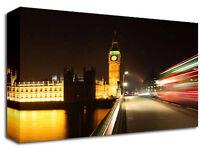 London Bus Big Ben Canvas Art Print A1 L Colour Picture