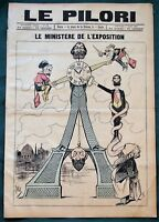 """Ministers of the Paris Exposition Universelle - 1889 French Satire """"Le Pilori"""""""