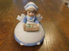 Vtg Porcelain 3D Nurse You Light up my life Song Albert Price Music Box Works