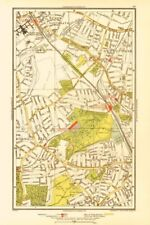 MUSWELL HILL. Alexandra Palace Hornsey Wood Green New Southgate 1933 old map