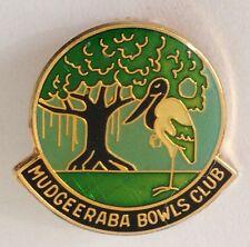 Mudgeeraba Bowling Club Badge Pin Vintage Lawn Bowls (L36)