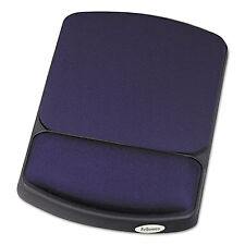 Fellowes Gel Mouse Pad w/Wrist Rest 6 1/4 x 10 1/8 Sapphire/Black 98741