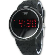 Techno Pave Urban Digital Touch Screen Sports Smart Watch Black Silicone Band