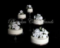 5 tier cascade wedding cake stand stands set 5 tier cascading wedding cake stand stands set 10453