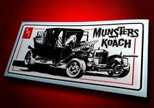 Vintage Style • AMT • Munsters Koach • Sticker • Decal