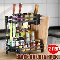 Spice Rack Kitchen Sauce Jars Bottle Shelf Storage Organizer Stainless Steel New