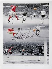 Sir Geoff Hurst England 66 Signed Montage All 3 Goals £12
