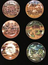 Bradford Exchange Charles Wysocki American Frontier Collection Set Of 6 Plates