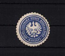 401068/ Siegelmarke - Königl. Eisenbahn-Direct. Halle a.d. Saale - Kanzlei