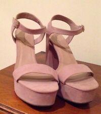 New Look Faux Suede Block High (3-4.5 in.) Women's Heels