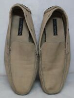 Via Spiga Mens Tan Suede Leather Loafers Size 13M - M Roadster
