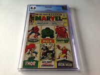 MARVEL TALES 1 CGC 4.0 ORIGINS SPIDER-MAN THOR HULK IRON MAN 1964 MARVEL COMICS