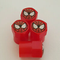 SPIDERMAN Red Plastic Valve Dust caps all models more colors All Cars and Bikes